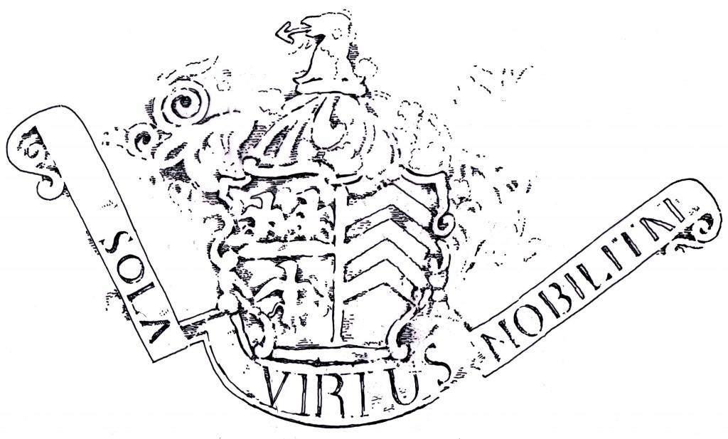 Arms from graveslab of Captain Peter Pelly