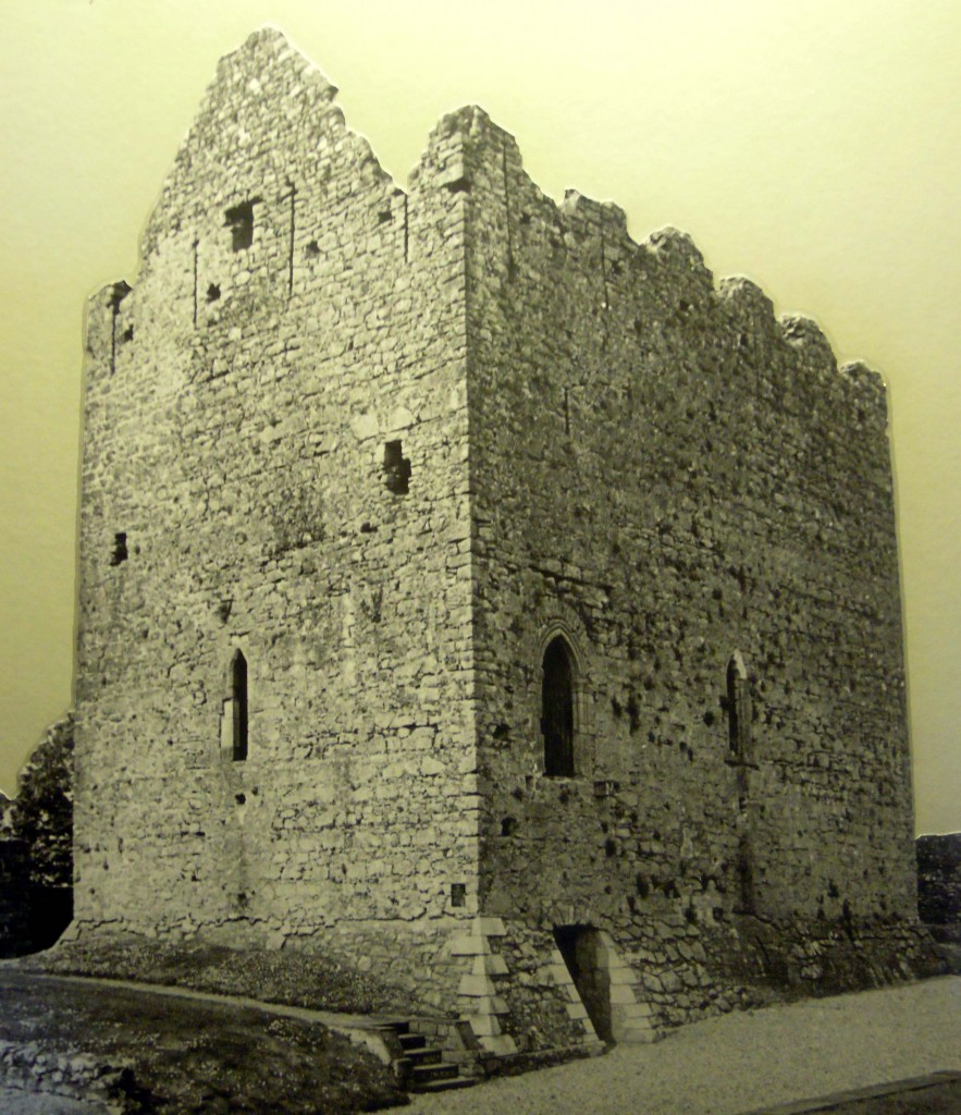 Athenry castle in the mid twentieth century
