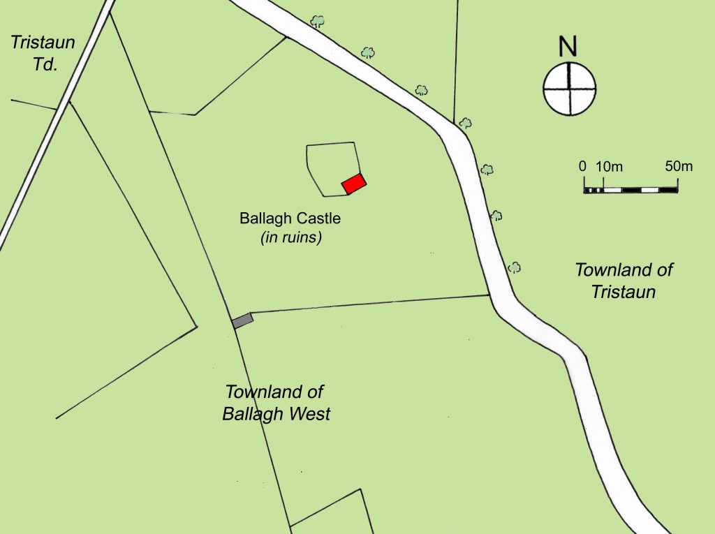 Ballagh castle mid nineteenth century