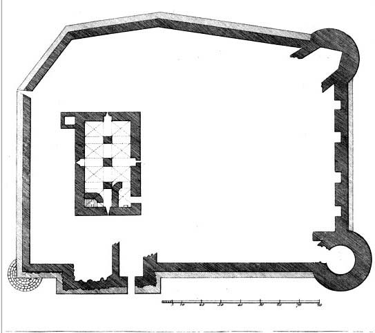 Bigari's plan of Athenry Castle copy