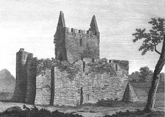 Bigari's view of Athenry Castle c. 1779 copy