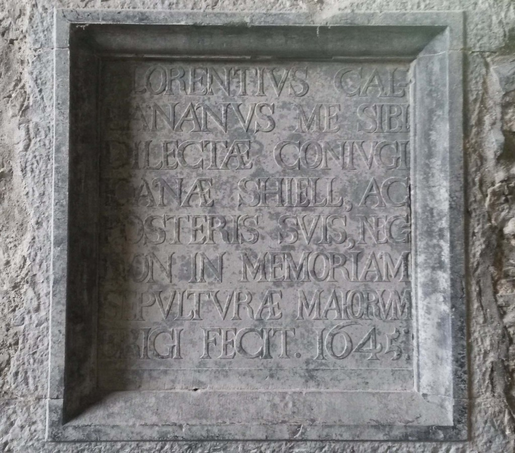 Callanan memorial tablet at Meelick