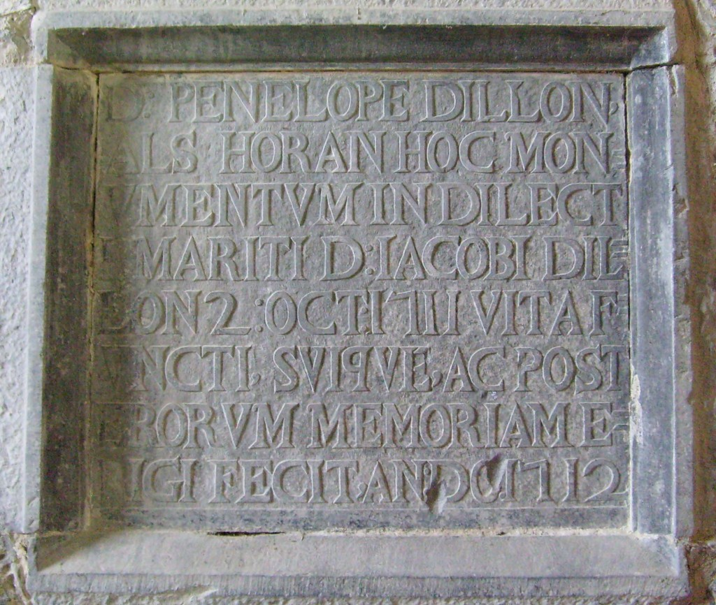Dillon memorial at Meelick friary church
