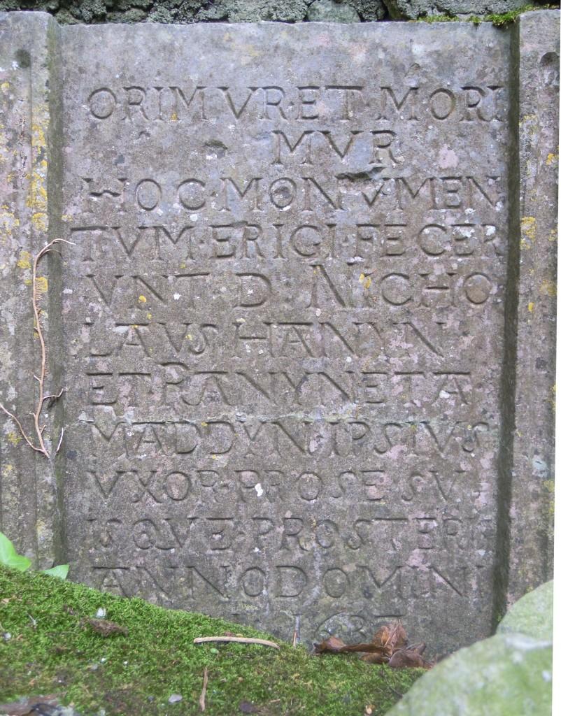 Inscription on Hannon tomb