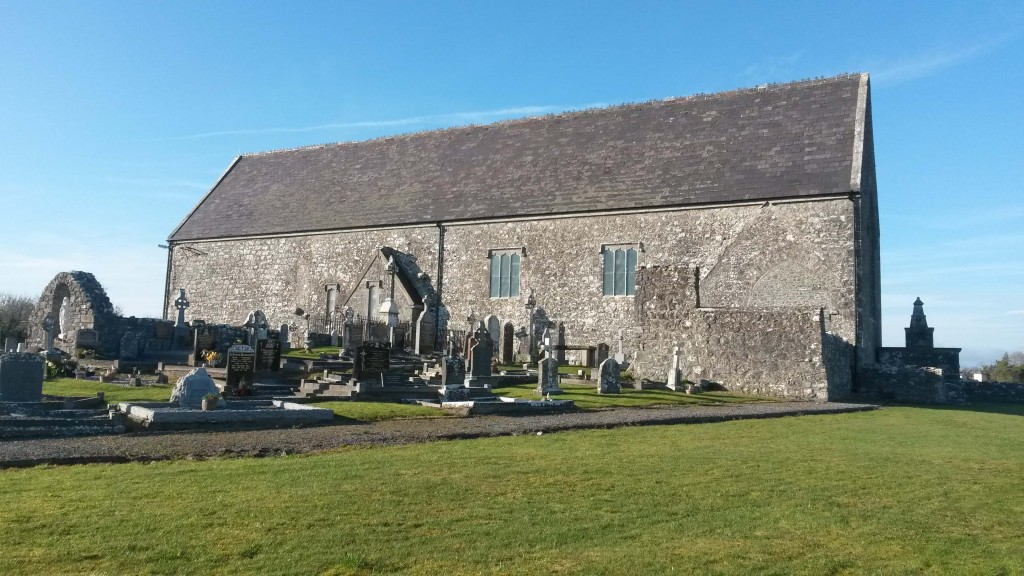 Meelick friary church south elevation