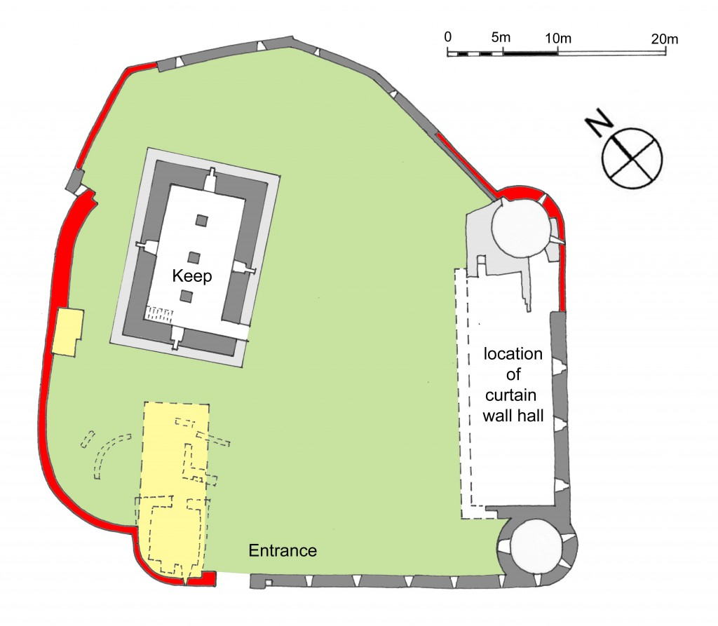 Plan of Athenry Castle