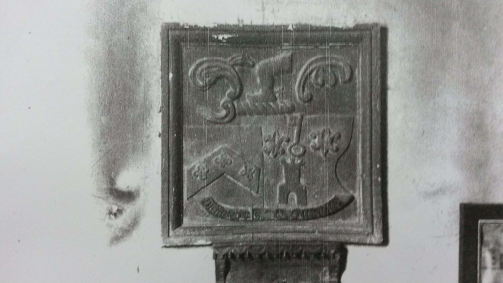 Stratford Eyre arms on tablet