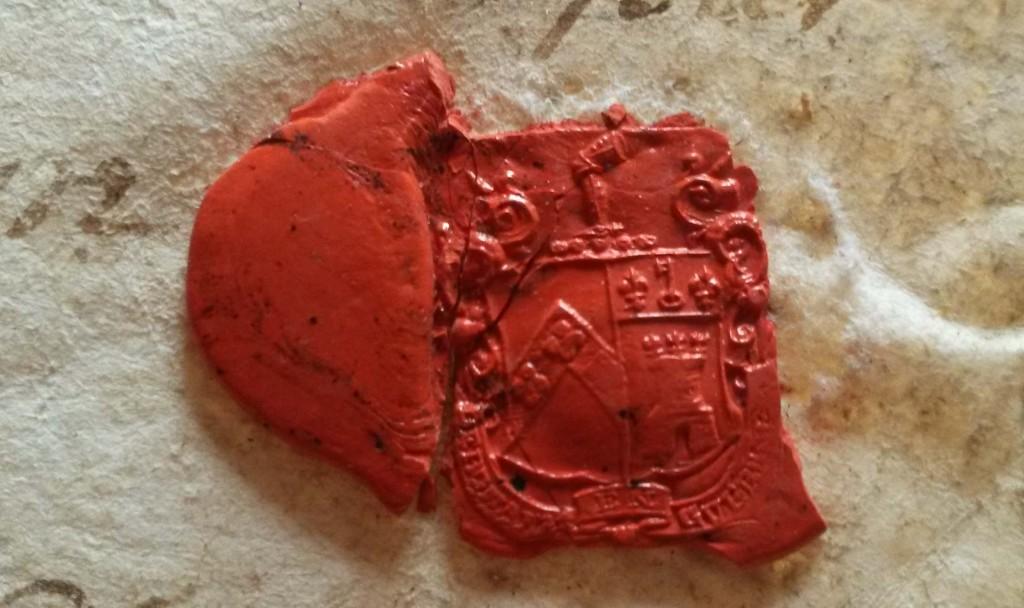 Stratford Eyre seal detail