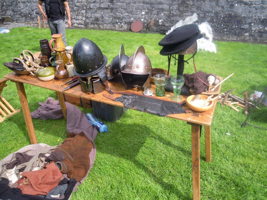 armour and crafts on display by claiomh