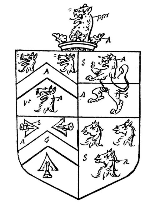 arms of Fludd of Millgate