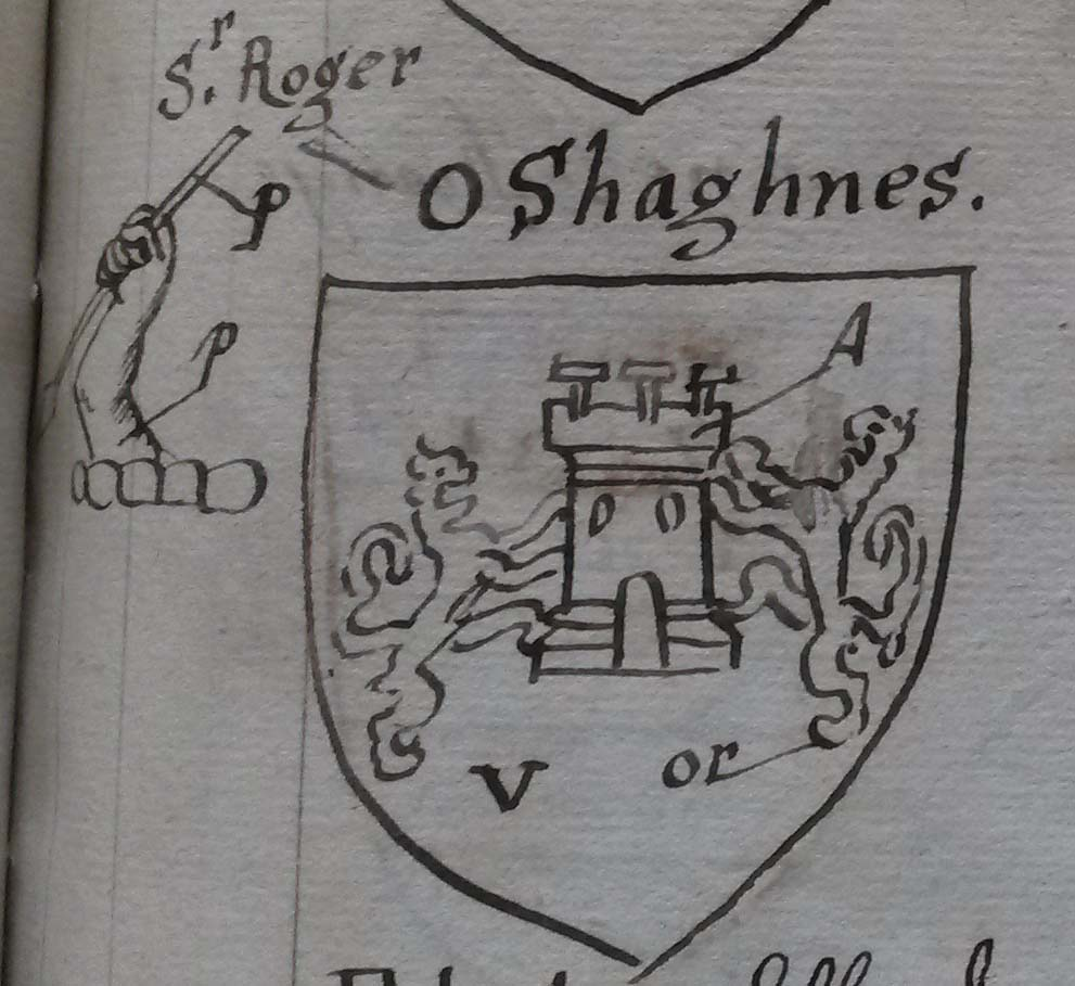 arms of O Shaughnessy from G.O. Ms. 61
