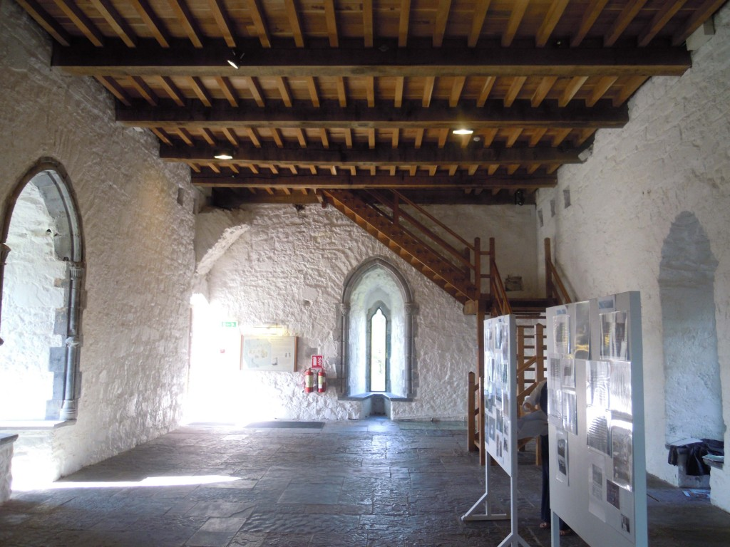 first floor hall chamber in the keep looking towards entrance door