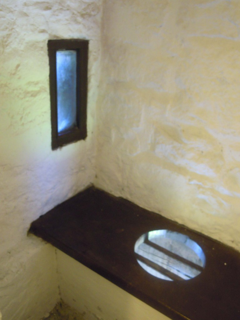 latrine in northern corner of keep