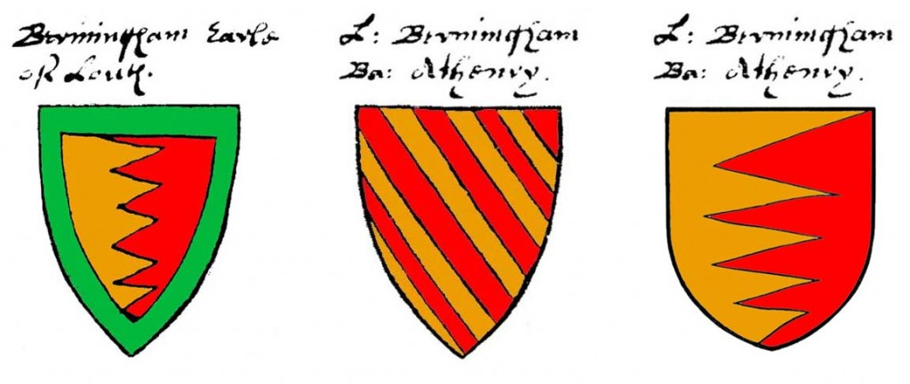 Bermingham arms of Louth and Athenry