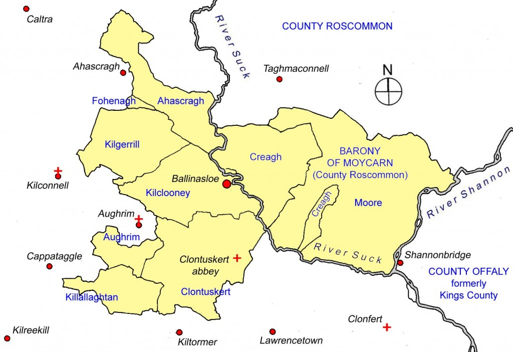 lands associated with the early Clann mhaicne Eoghain