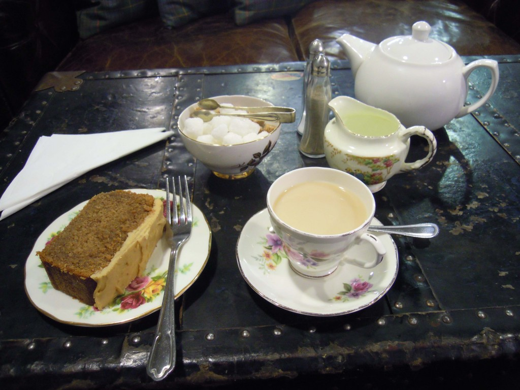 Tea and cake at the Tea Room, Carrick-on-Shannon