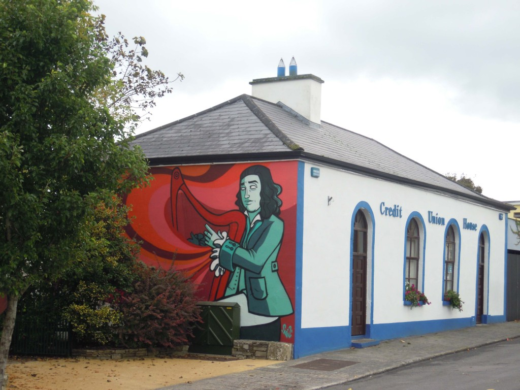 O Carolan and the Credit Union building at Keadue