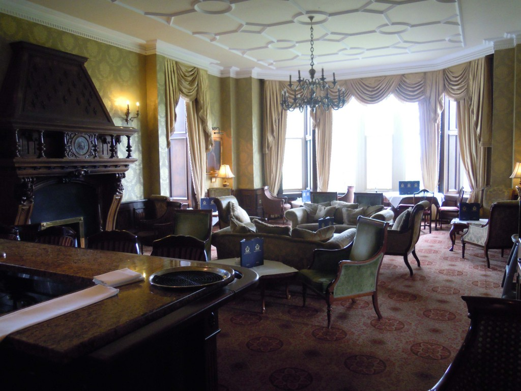 The drawing room, Kilronan Castle