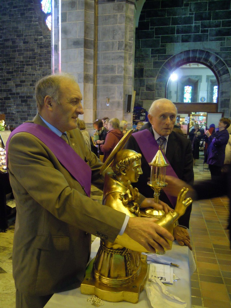Bernard and Bartley on duty with the relics