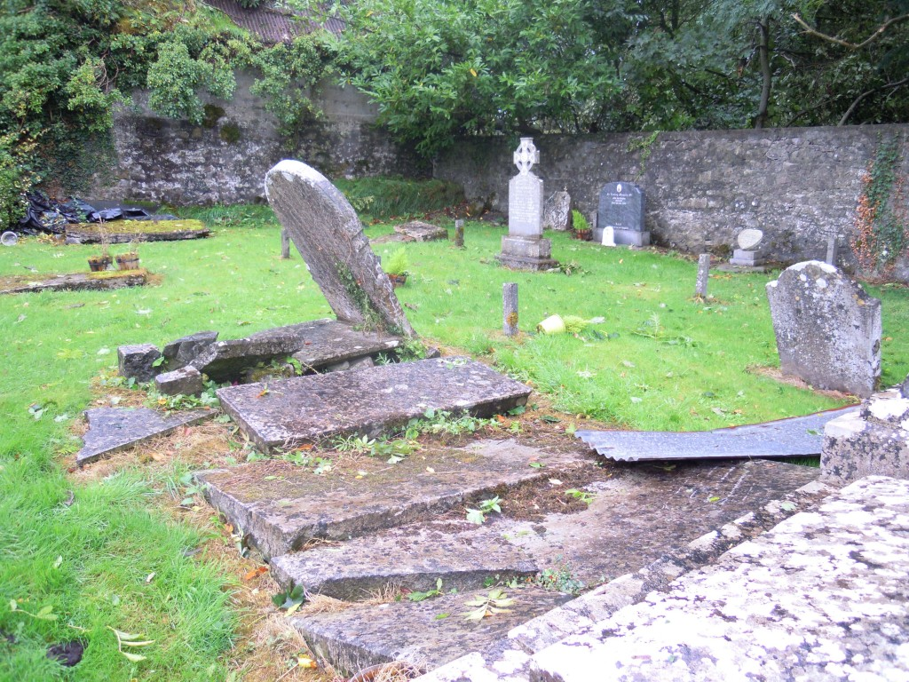 Clonfert graveyard after the storm