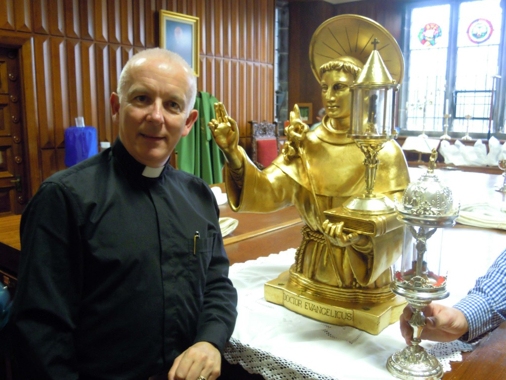Fr Michael Byrne in the Sacristy
