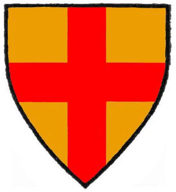Or a cross Gules shield