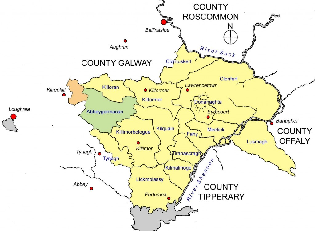 Parishes of barony of Longford, Co. Galway