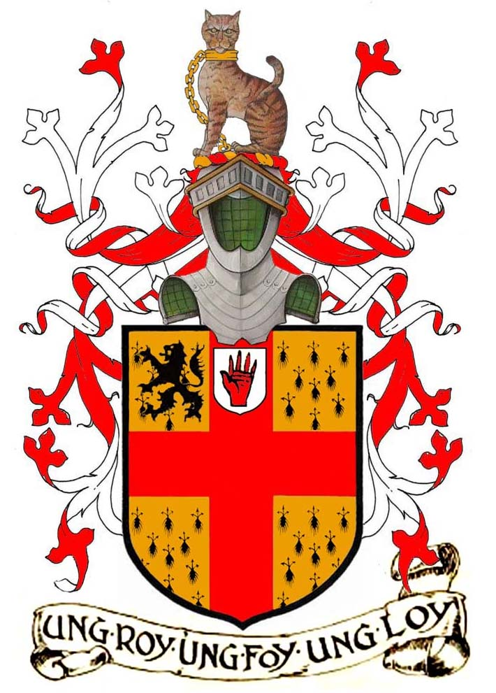 arms of Sir Henry George Burke, 5th Bart. of Marble Hill