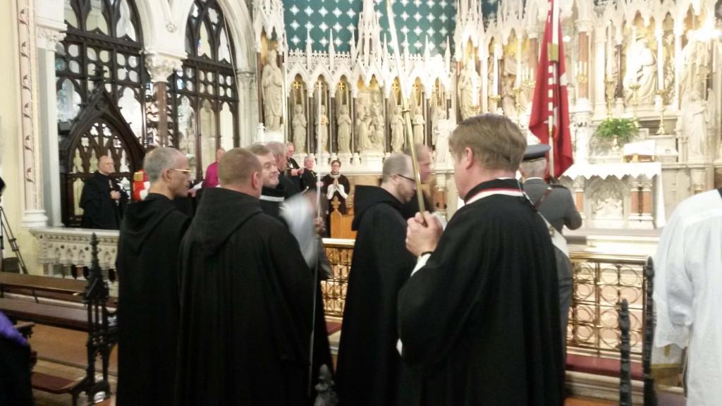 John McGrath KM ushering the procession