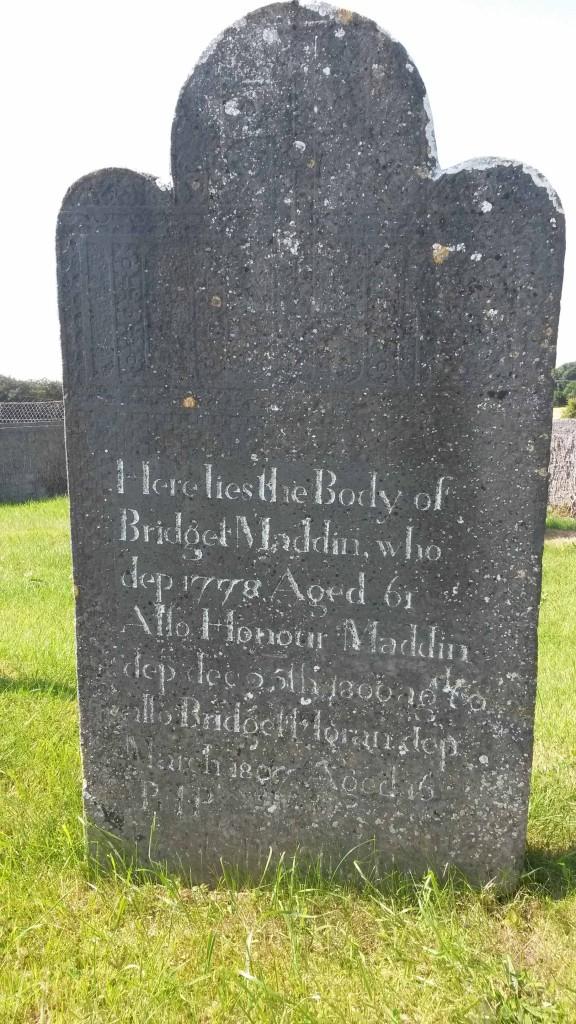 Bridget Madden 1778 stone