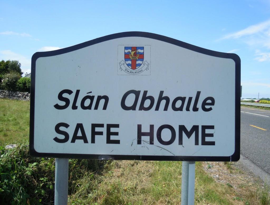 Loughrea arms signage