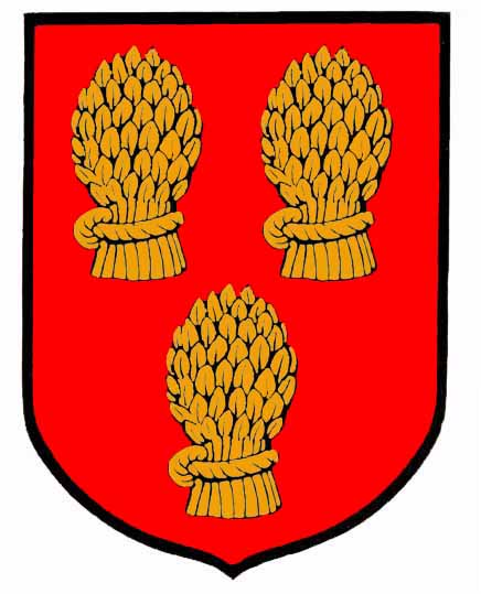 gules three garbs or