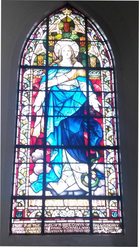 window in memory of M Comyn at Kilconnell