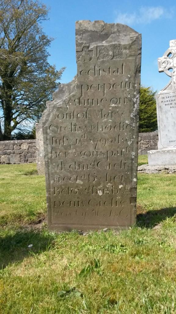 Grelis headstone Kiltormer