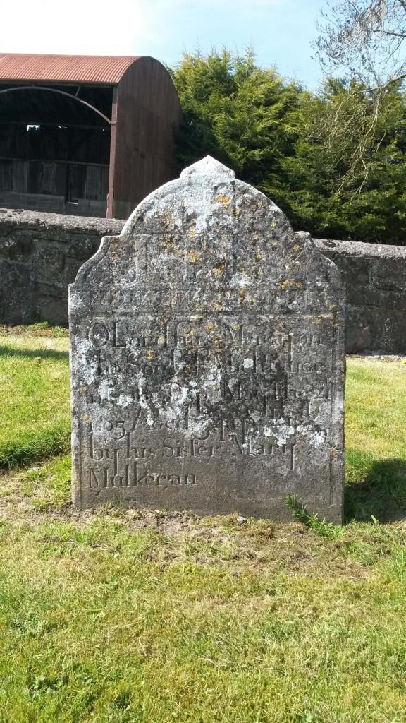 Nugent Mulkeran headstone Kiltormer