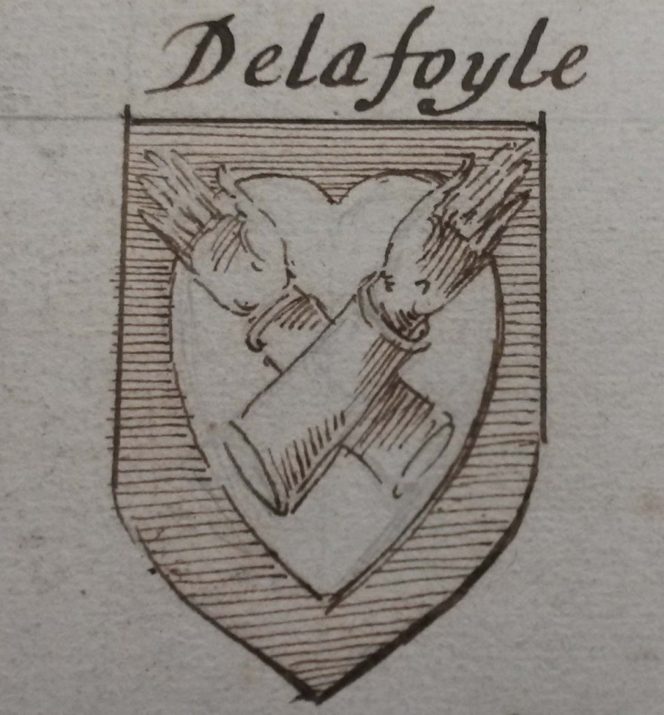 arms of Delafoyle from G.O. Ms. 82