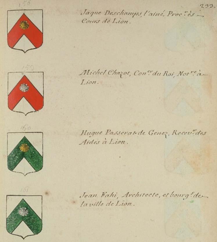 arms of Jean Fahi of Lyons