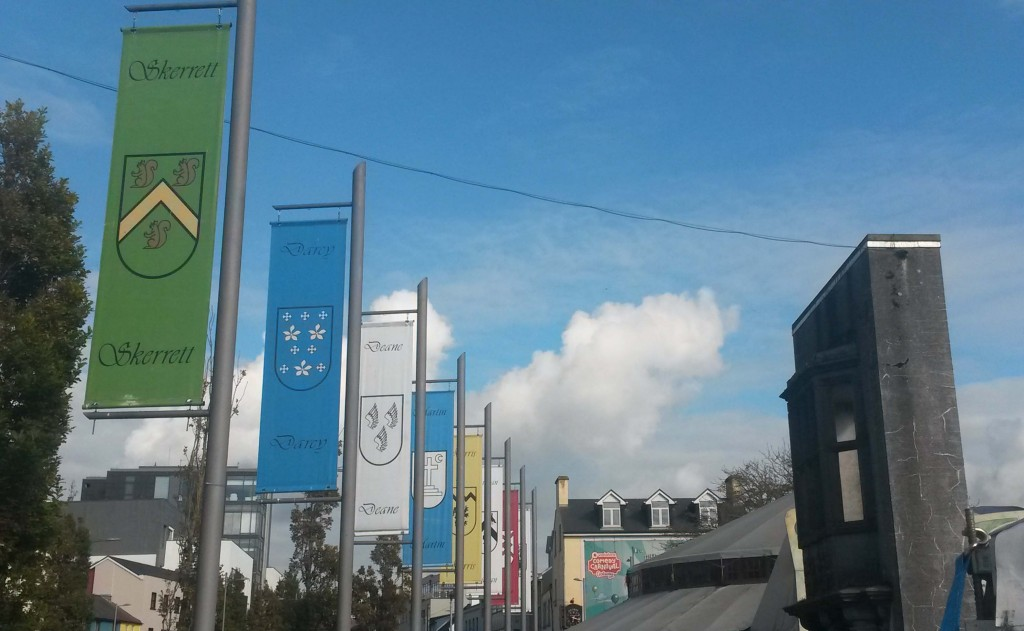 Galway banners at Eyre Square