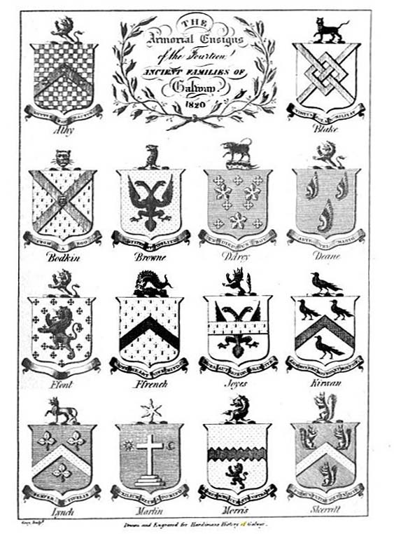 Hardimans arms of Tribes of Galway