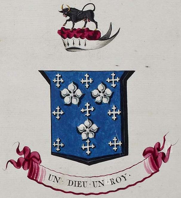 arms of D'Arcy of Platten, County Meath from G.O. Ms. 168