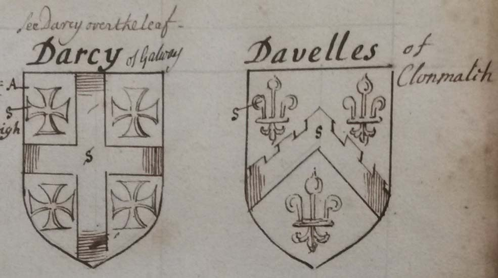 arms of Darcy of Galway from GO Ms 82