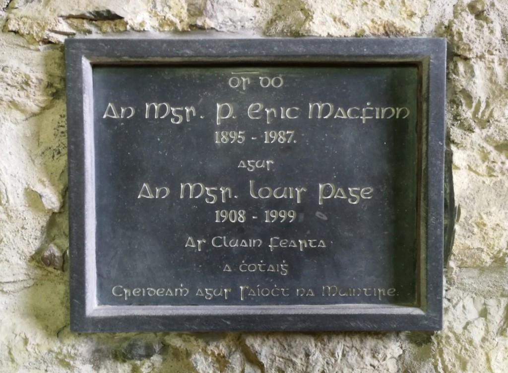 Msgr MacFhinn and Msgr Page memorial Meelick