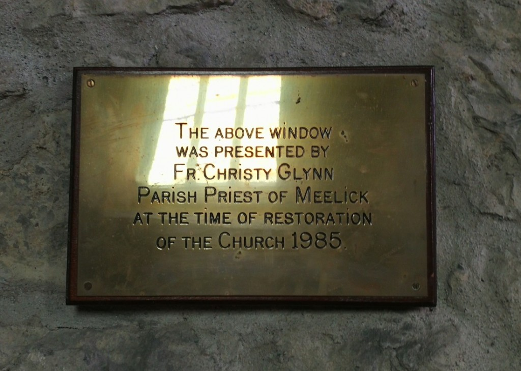 fr christy glynn plaque meelick