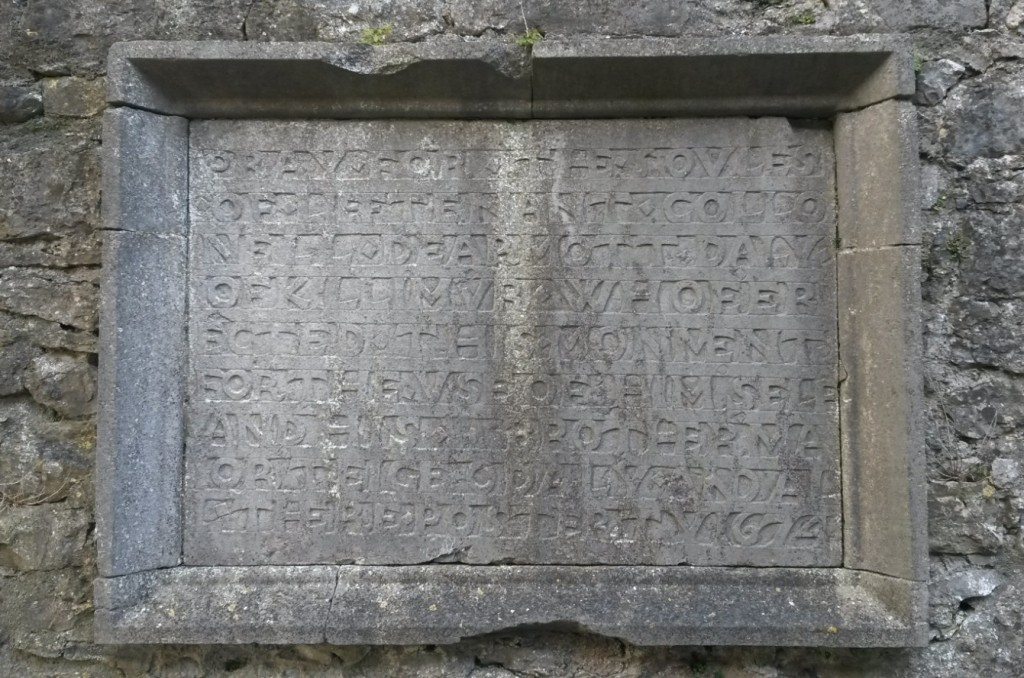 Lt Col Dermot Daly of Killimer tablet Kilconnell