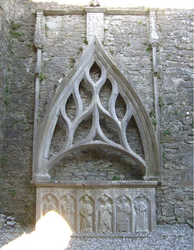 West door tomb Kilconnell