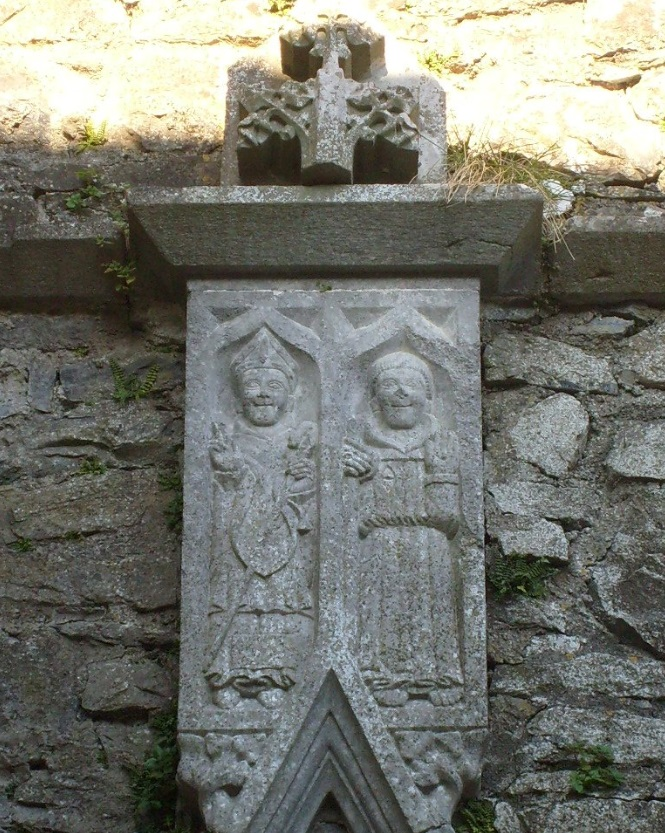 West door tomb finial figures Kilconnell